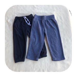 2T Carter's & Children's Place fleece pants